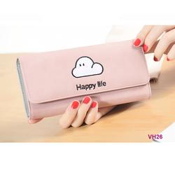 Ví nữ cầm tay dễ thương Happy life