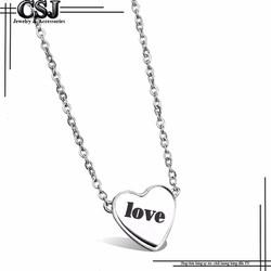 Dây chuyền inox nữ thời trang hình trái tim chữ LOVE