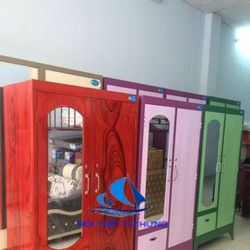 Tủ sắt quần áo cao 1m6x90cm, free ship hcm, giá rẻ
