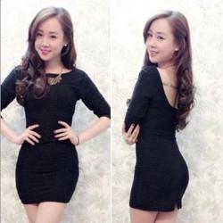 Đầm Body Khoét Lưng - MS0588