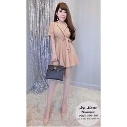 Đầm xoè vest cột eo _MỎ CHU SHOP