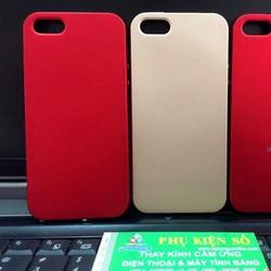 Ốp lưng iPhone 5 dẻo nhung đỏ bóng