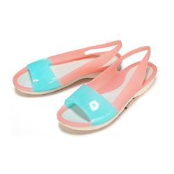 Giày sandal crocs colorblock flat màu cam