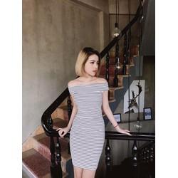 Đầm body bệt vai