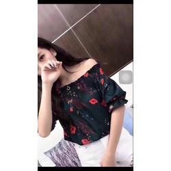 Áo bệt vai Hoa