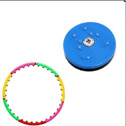 Bộ vòng lắc eo giảm cân  hoạt tính massage và đĩa xoay eo 360