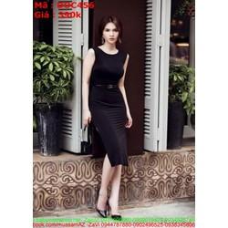 Đầm ôm đen sát nách thời trang công sở xinh đẹp DOC456