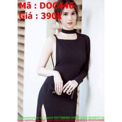 Đầm ôm kiểu 1 bên tay sành điệu mới lạ phong cách DOV446
