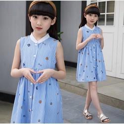 Đầm somi sọc xanh siêu xinh