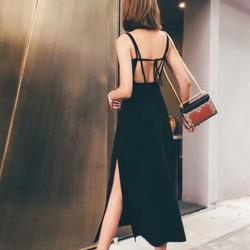 Đầm maxi xẻ tà