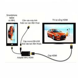 Cáp HDMI ra TV cho thiết bị Android - MHL kit