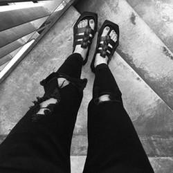 quần jeans nữ rách cái bang Mã: QD1404
