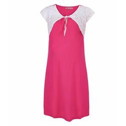 Đầm Bầu Phối Bèo Ren - Hồng Sen