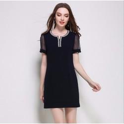 Đầm suông hè cao cấp 2017 cho người mập - #2585