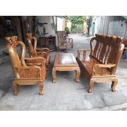 Bộ Bàn ghế Đồng Kỵ  gỗ lim Nam Phi - BG07