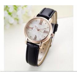 Đồng hồ nữ thời trang Hongxin đen