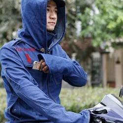 Áo khoác nam vải jean chống nắng tp hcm