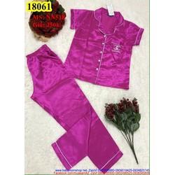 Đồ mặc nhà áo ngắn tay phối quần dài chất phi mang thoải mãi NN518