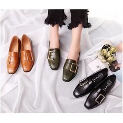 Giày loafer 1 khóa đế thấp