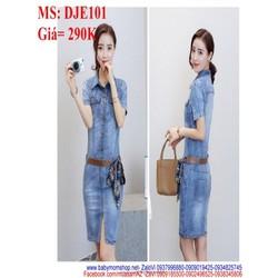 Đầm jean nữ xòe nhẹ chất denim mềm khoe dáng đẹp DJE102