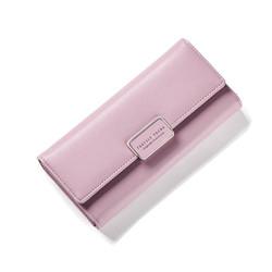 Ví cầm tay nữ cao cấp Forever Young màu hồng ruốc - Hàng full box