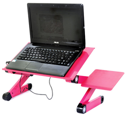 Bàn xoay laptop đa năng Omeidi T8 có quạt kiêm đế tản nhiệt