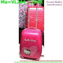 Valy kéo hình mèo kitty màu hồng xinh xắn VL244