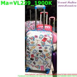 Valy kéo bằng nhựa cứng hình doremon đáng iu VL239