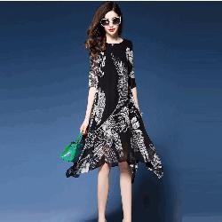 Đầm suông nữ họa tiết cực đẹp DS006