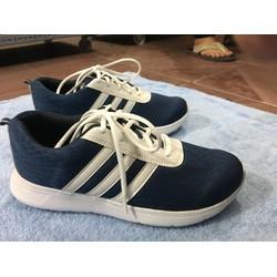 giày thể thao nam xanh sọc trắng , đủ size nam
