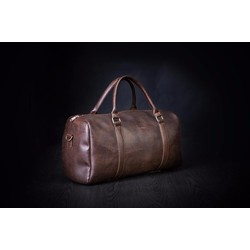 Túi xách da du lịch Hanama N1 ,Nâu đậm