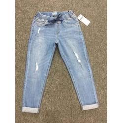jeans baggy lưng thun vnxk trơn và rách