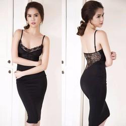 Đầm 2 dây sexy cực tôn dáng