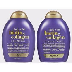 Bộ Gội Xả OGX Thick and Full Biotin and Collagen chai 385ml từ Mỹ