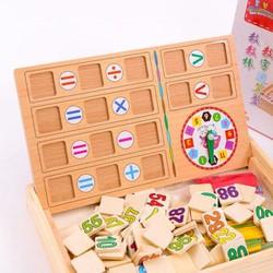 Bảng gỗ cho bé học toán