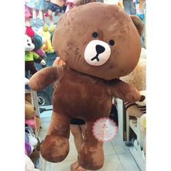 Gấu brown 1m4 vải nhung mềm mại