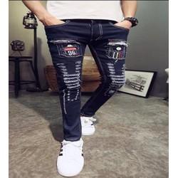 quần jeans rách chắp vá 96 Mã: ND0941 - XANH