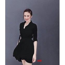 Đầm Voan Cổ Sơ Mi