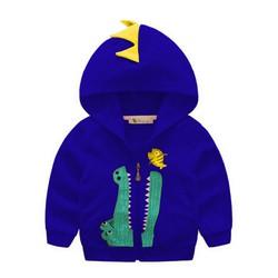 Áo khoác có nón thêucá sấu ngộ nghĩnh8-27kg - Xanh