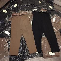 Quần baggy nữ thời trang kèm belt