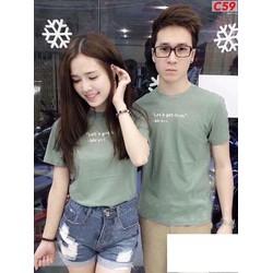 ÁO THUN COUPLE CHỮ XINH IU