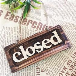 Biển Gỗ Trang Trí Decor - Vintage Closed