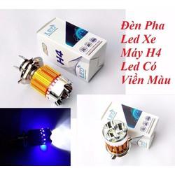 Đèn Pha Led Xe Máy H4 Có Viền Màu Rất Đẹp