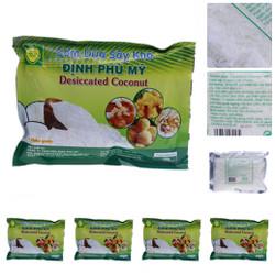 Bộ 5 gói Cơm dừa sấy khô Định Phú Mỹ - loại hạt dài 150g