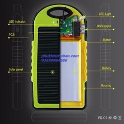 Pin sạc dự phòng năng lượng mặt trời 12,000 mah solar power bank