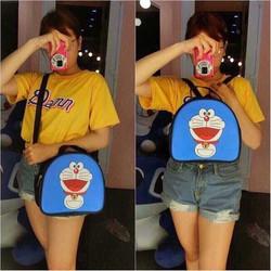 Túi đeo chéo nữ hình doremon xanh xinh xắn
