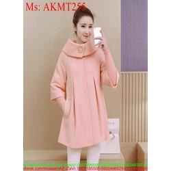 Áo khoác dạ nữ phối túi kiểu dáng mới lạ thời trang AKMT255