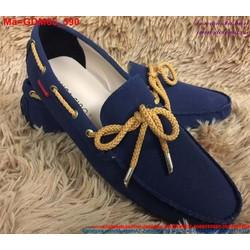 Giày mọi da nam công sở thắt nơ vàng nổi bật GDM65