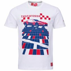 Áo phông cộc tay thể thao nam Scuderia Ferrari Graphic