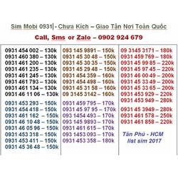 Mới về sim mobi 0931,0932,0938,0903,giá siêu rẻ